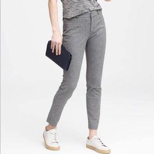 Banana Republic textured gray Sloan pants